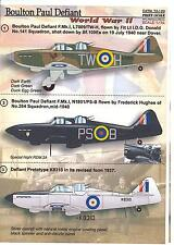 Print Scale Decals 1/72 BOULTON PAUL DEFIANT British WWII Fighter