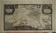 RIGA LATVIA 1696 PUFENDORF ANTIQUE ORIGINAL TWO SHEETS COPPER ENGRAVED CITY MAP