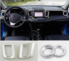 ABS Interior Air Condition Vent Cover Trim 4pcs For Toyota RAV4 2016 2017