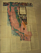 """VTG 1954 CARTOGRAPHIC MAP """"Outdoor Play Places Of CALIFORNIA""""~32"""" x 46"""" LARGE~"""