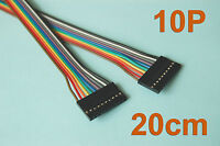 "10 Pcs 20cm ( 7.9"" ) Length Dupont Wire Cable 10p 10p Pin Header 2.54mm Pitch"