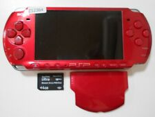Z12364 Sony PSP-3000 console Radiant Red Handheld system Japan w/SD Cardx