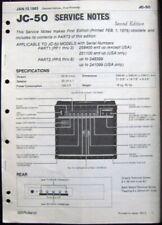 Roland JC-50 Jazz Chorus Guitar Amp Original Service Manual Schematics Booklet