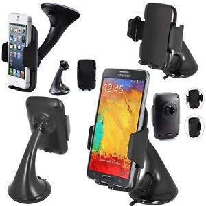 In-Car Mount Mobile Phone Holder Mount Cradle Stand Universal 360 Rotating Clip
