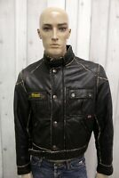 BELSTAFF Uomo Taglia M Giacca Vintage Nero Giubbotto Black Man Jacket Coat Jacke