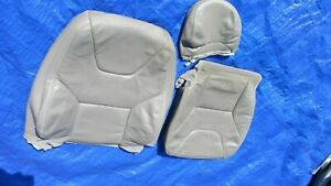 01-04 Volvo XC70 Cross Country OEM Grey Oak Driver Left Side Leather Seat Covers