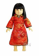 """ROSA CHINESE DRESS - RED Outfit for American Girl 18"""" Dolls Ivy Clothes NEW"""