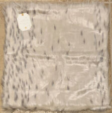 "NEW Pottery Barn Teen Faux Fur 18"" SQUARE Pillow Cover SNOW CAT"