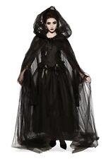 Rubies Black Hooded Emo Punk Vampire Gothic Adult Halloween Costume Cape 34295