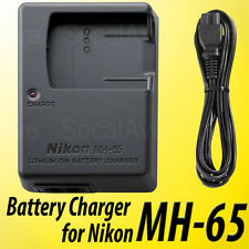 MH-65 Battery Charger for Nikon Coolpix S9100 S8200 S8100 S8000 EN-EL12 Lithium