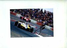 Rene Arnoux Renault RE30B Winner French Grand Prix 1982 Signed Photograph