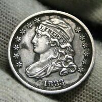1833 Capped Bust Dime 10 Cents - Nice Coin, Free Shipping  (143)