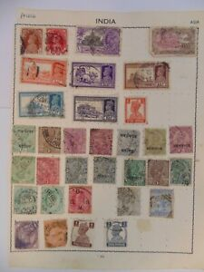 PA 426 - Double Sided Page Of Mixed India Stamps