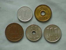 JAPAN YEN COIN LOT - JAPANESE ¥1, 5, 10, 50 & 100 YEN COINS - JAPANESE YEN