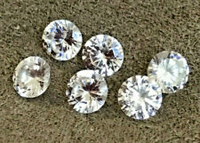 CUBIC ZIRCONIA TOP QUALITY 6 LOOSE STONES.  6mm ROUND    [6 STONES PER PACKAGE]
