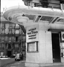 PARIS c. 1950 - Bureau de Change Bd de Montparnasse - Négatif 6 x 6 - N6 P138