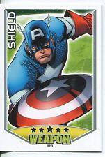 Marvel Hero Attax Series 1 Base Card #189 Shield [Captain America]