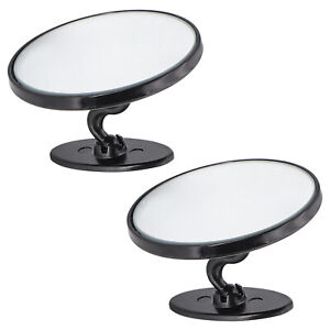 360° Blind Spot Round Convex Mirror Rear Side View Wide Angle Stick Parking 2pcs