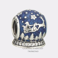 Authentic Pandora Silver Enamel Christmas Night Bead 796386EN63 *WINTER 2017