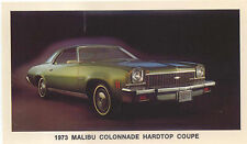 Chevrolet Malibu Colonnade Hardtop Coupe 1973 US issued Postcard