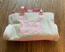 JUICY COUTURE SUEDE VELEUR BAG - CLASSIC DESIGN - 100% AUTHENTIC - NO RESERVE