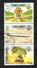 Ballons et Dirigeables St Thomas et Prince (19) série compl 3 timbres oblitérés