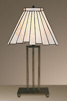 TIFFANY STYLE UNIQUE STAINED GLASS DESK TABLE LAMP - 11.8'' WIDE