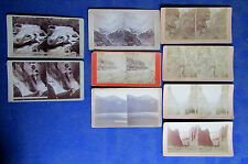 Lot of 9 Colorado Stereoviews- Weitfle's, Woodward, Railroad Views!