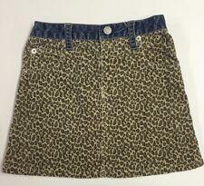 GAP SKIRT TODDLER GIRLS  SIZE  4 Cheetah Print And Denim Skirt