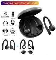 Sports Wireless Earphones Bluetooth Bass Stereo Headphones TWS Ear Hook Headset