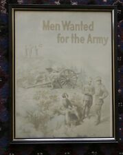 """Vintage WWI """"Men Wanted For The Army"""" Michael Whelan Reproduction Print Poster"""