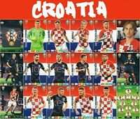 PANINI ADRENALYN XL UEFA EURO 2020 CROATIA FULL 18 CARD TEAM SET - EUROS