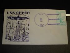 Submarine USS CHARR SS-328 Naval Cover 1944 HERALD WWII LAUNCH Cachet
