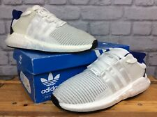 ADIDAS MENS UK 8 EU 42   EQT SUPPORT 93/17 WHITE BLUE HEEL TRAINERS RRP£150