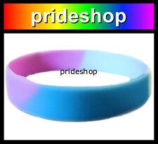 Transgender Silicone Wristband Rainbow Trans Pride Wrist Band #947