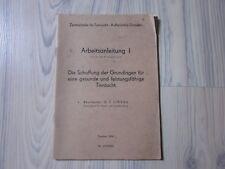 ARBEITSANLEITUNG I ~ GESUNDE TIERZUCHT ~ alter DDR PROSPEKT/FLYER von 1953