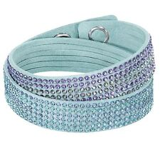 Bracciale Swarovski Slake Light Blue 2 in 1 turchese Donna bracelet 5202466 new
