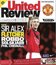 Football Programme>MAN UTD v LIVERPOOL Mar 2010