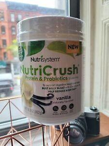 Nutrisystem NutriCrush Protien & Probiotics Shake Mix Tub Vanilla EXP 2021 NEW