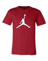 Michael Jordan Jump man Logo, Unisex  RED T-Shirt, , FREE SHIPPING