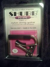 New Shubb S2 Deluxe Nylon String Guitar Capo, Stainless, free shipping NIB