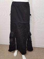Tripp Women's Black Long and Zip Off  Mini Skirt Buckles Sz S