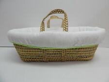 Baby Doll Bedding 5600mb Forever Mine Moses Baby Basket, Sage
