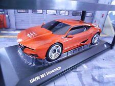 Bmw m1 turbo homenaje concept estudio prototipo Orange met DIECAST 1:18