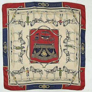 Vtg Hermes Harnais L'Anglaise  Silk Twill Scarf 82cm Grygkar
