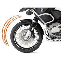 BMW R 1200 GS KIT ADESIVI SPECIFICI COLORE ARANCIONE CERCHIO PROFILO RUOTA