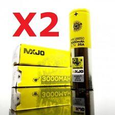 PACK X 2 ACCUS MXJO 18650 IMR 3000 mAh / 35 A - étui protection - ACCU ORIGINAL