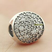 925 Sterling Silver Pavé Sphere Charm Clear CZ European Bead 2018 Christmas Gift