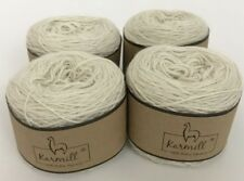 Alpaca Wool Skeins 100% Baby Alpaca Yarn Lot of 4 Natural White Color 1030