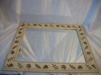 "Gorgeous Stanley Monarch Leaf Print Rectangle Wall Mirror 25.25"" x 21 3/8"""